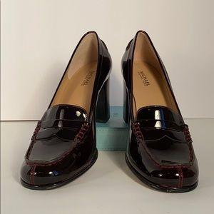 Michael Kors Buchanan Patent loafers - burgundy